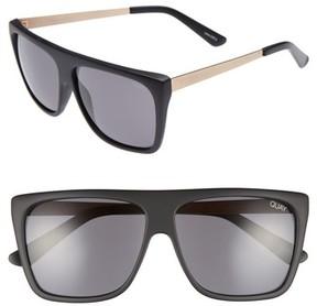 Quay Women's X Desi Perkins On The Low 60Mm Square Sunglasses - Black/ Smoke