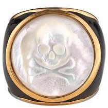 Asha Women's Mother-Of-Pearl Skull Ring