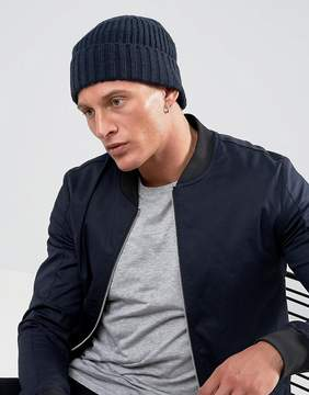 French Connection Ribbed Beanie Hat