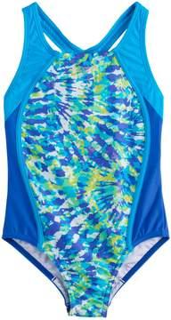 Speedo Girls 7-16 Tie-Dye One-Piece Swimsuit
