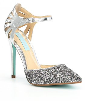 Betsey Johnson Blue by Avery Glitter Dress Sandals