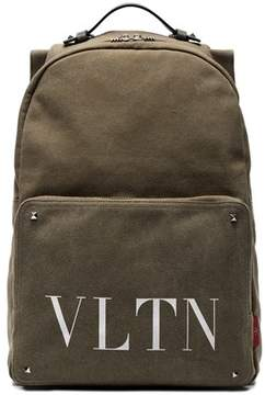 Valentino Men's Green Canvas Backpack.