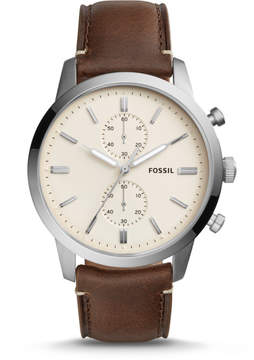 Fossil Townsman 44mm Chronograph Brown Leather Watch
