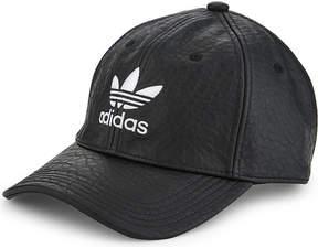 Adidas Originals Trefoil faux-leather strapback cap