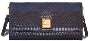 Dooney & Bourke Snake Crossbody Clutch Shoulder Bag - BLUE - STYLE