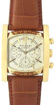 Bvlgari Assioma Ivory Dial Brown Leather Men's Watch