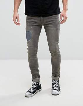 Religion Jeans in Super Skinny Stretch Fit with Repair Work