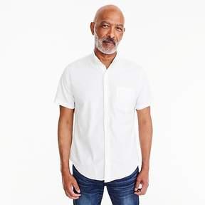 J.Crew Short-sleeve shirt in stretch white poplin