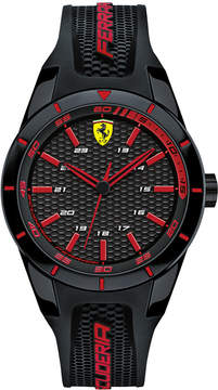 Ferrari Men's Red Rev Black Silicone Watches 38mm & 44mm Gift Set