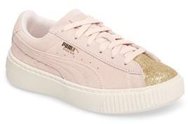 Puma Girl's Suede Platform Glam Sneaker