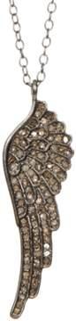 Fallon ADORNIA Champagne Diamond And Sterling Silver Wing Necklace.