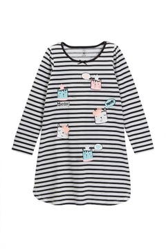 Petit Lem Meow Kitty Knit Nightgown (Toddler & Little Girls)