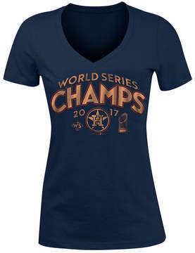 5th & Ocean Women's Houston Astros 2017 World Series Champ Gold Trophy T-Shirt