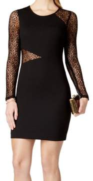 GUESS Women's Long Sleeves Illusion Dress