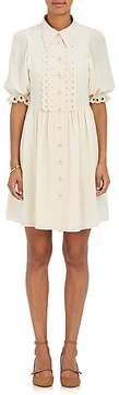 Chloé Women's Eyelet-Trimmed Silk Babydoll Dress