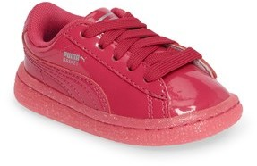 Puma Girl's Basket Iced Glitter Sneaker