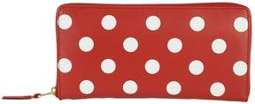 Comme des Garcons Wallets Polka Dot Zip Around Wallet