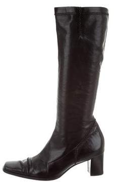Paul Green Leather Square-Toe Boots