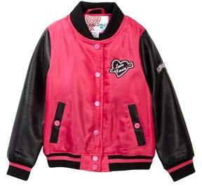 KensieGirl Varsity Jacket with Patches (Toddler Girls)