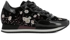 Philippe Model Black Velvet Sneakers