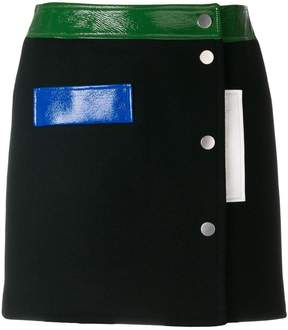 Courreges colour-block mini skirt