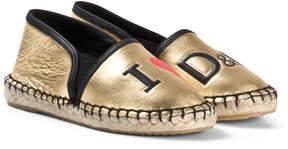 Dolce & Gabbana Gold I Love Espadrilles