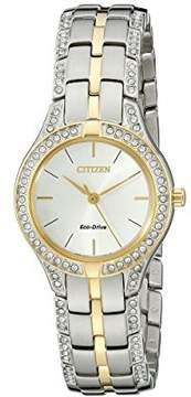 Citizen Women's Two-Tone Eco-Drive Silhouette Crystal Watch FE2064-52A