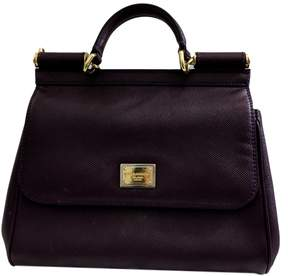 Dolce & Gabbana Sicily leather handbag - PURPLE - STYLE