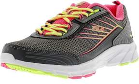 Fila Women's Forward 3 Dark Silver / Knockout Pink Safety Yellow Ankle-High Running Shoe - 8M