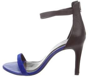 Joie Two-Tone Ankle Strap Sandals