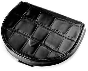 Aspinal of London | Horseshoe Coin Holder In Deep Shine Black Croc | Black deep shine croc