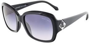 Roberto Cavalli Rc881s/s 01b Maia Shiny Black Square Sunglasses.