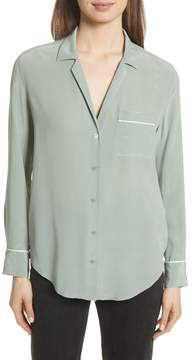 Equipment Keira Piped Silk Shirt