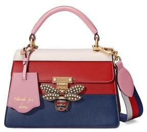 Gucci Queen Margaret Top Handle Leather Satchel - Blue - BLUE - STYLE