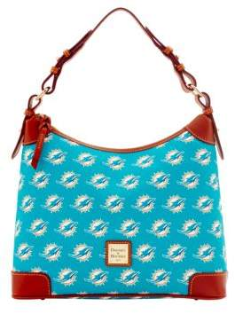 Dooney & Bourke Miami Dolphins Printed Hobo - TURQUOISE DOLPHINS - STYLE
