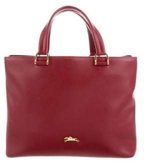 Longchamp Smooth Leather Satchel