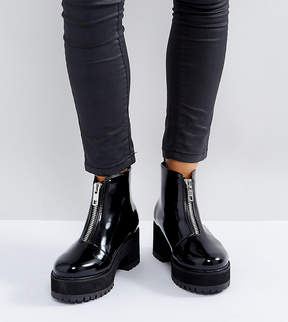 Asos RANKIN Wide Fit Zip Front Ankle Boots