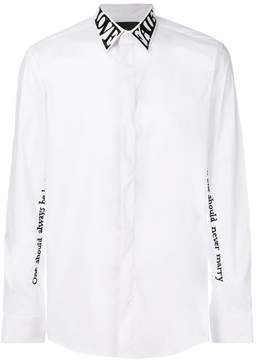 John Richmond Love Faith neck shirt