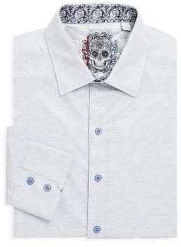 Robert Graham Embroidered Cotton Button-Down Shirt
