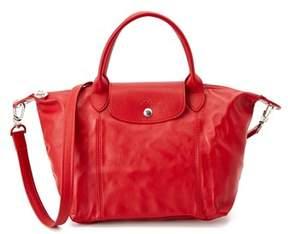 Longchamp Le Pliage Cuir Leather Handbag. - CHERRY - STYLE