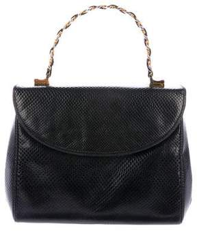 Judith Leiber Patent Karung Shoulder Bag