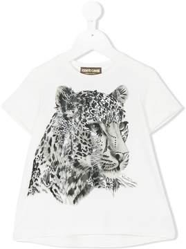 Roberto Cavalli floral tiger print T-shirt