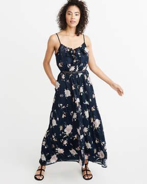 Abercrombie & Fitch Ruffle Maxi Dress