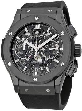 Hublot Classic Fusion Aerofusion Chronograph Automatic Black Magic Skeleton Dial Men's Watch