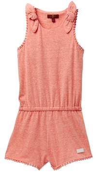 7 For All Mankind Bow Tie Romper (Big Girls)