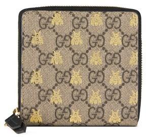 Gucci Women's Bee Gg Supreme French Wallet - Beige - BEIGE - STYLE