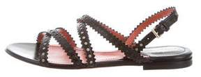 Santoni Leather Perforated Sandals w/ Tags