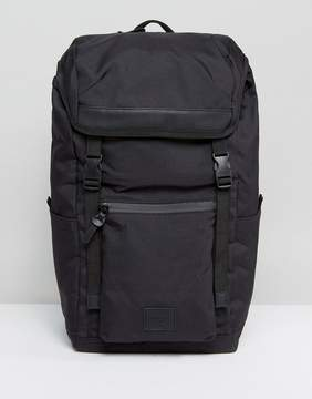 Asos Hiker Backpack In Black With Coated Zips