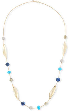 Alexis Bittar Chrysocolla, Lapis & Turquoise Station Necklace, 45