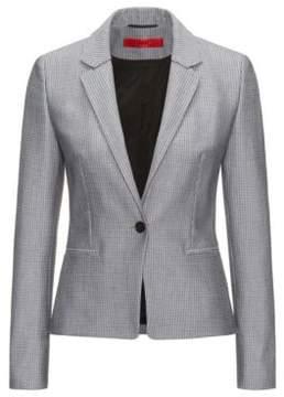 HUGO Boss Patterned Cotton Blend Blazer Asima 4 Black